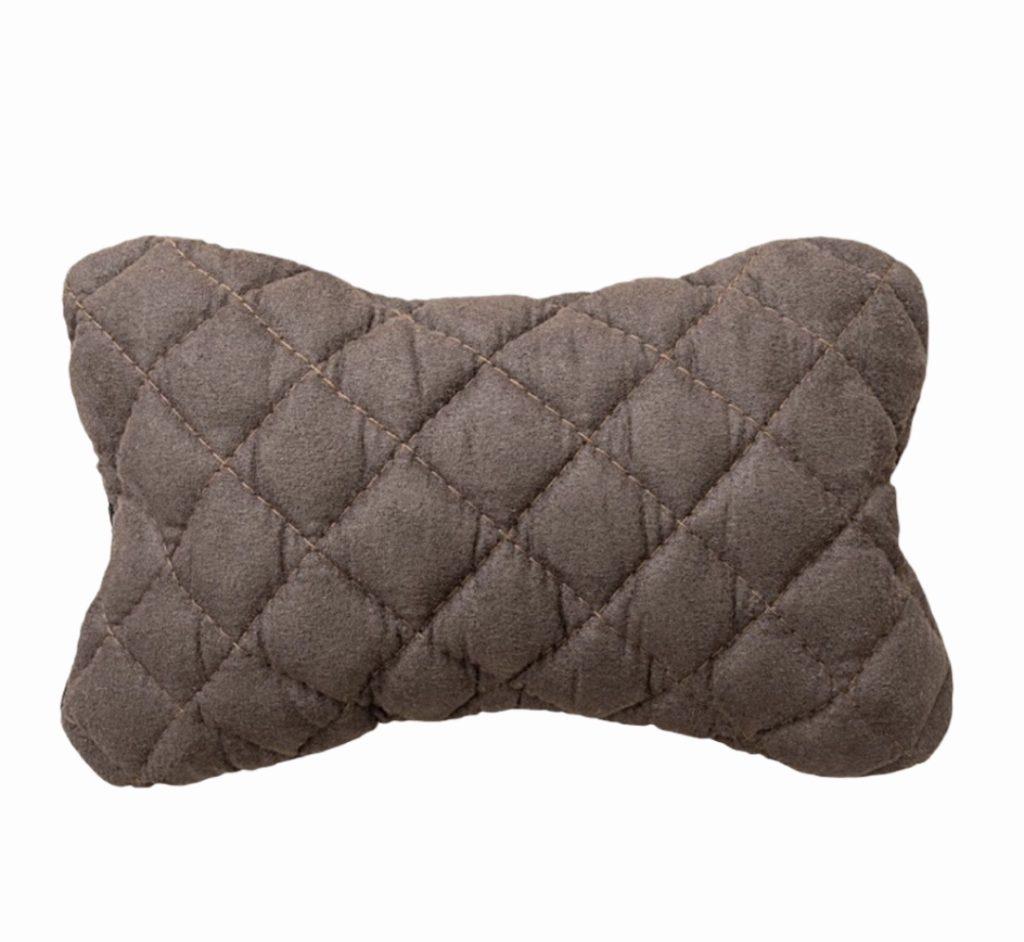 Автомобильная подушка - косточка из алькантары на подголовник