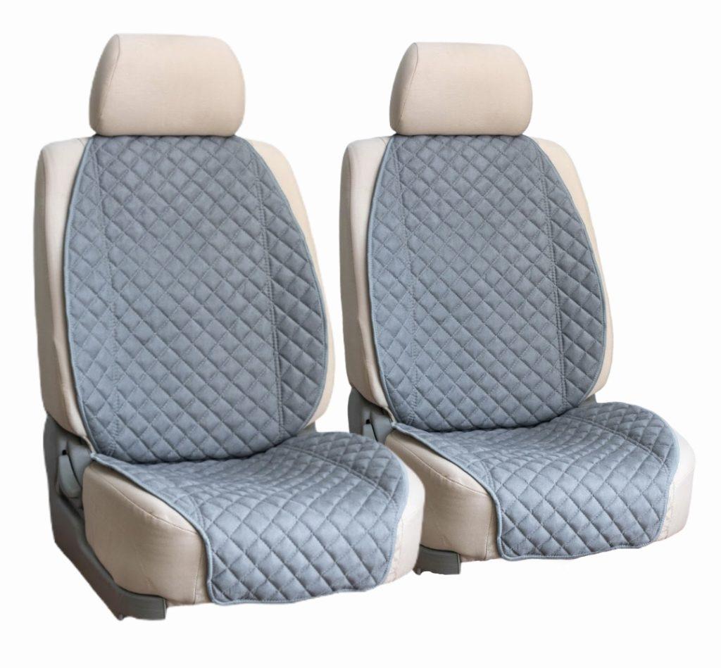 Накидки на сиденья из алькантары. Широкая спинка, широкий низ.